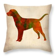 Labrador Retriever Poster Throw Pillow by Naxart Studio