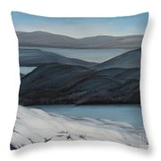 Labrador The Big Land Throw Pillow