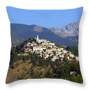 Labro, Lazio, Italy Throw Pillow