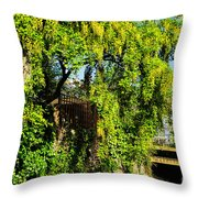 Laburnum By The River Throw Pillow