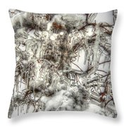 Labyrinth Of Ice Throw Pillow