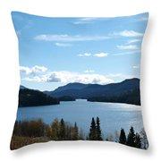 Lac Des Roches Throw Pillow