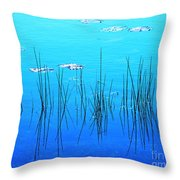 Lacassine Pool Reeds Throw Pillow