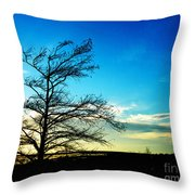 Lacassine Tree Throw Pillow