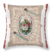 Lace And Roses Throw Pillow