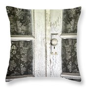 Lace Curtains Throw Pillow