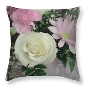 Lace Framed Mothers Day Throw Pillow