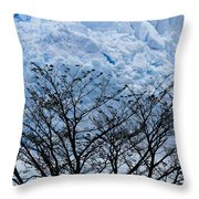 Lace On Blue Throw Pillow