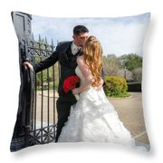 Lacey And Adam Wedding 1 Throw Pillow