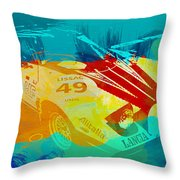Lacia Stratos Watercolor 1 Throw Pillow by Naxart Studio
