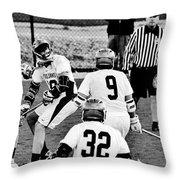 Lacrosse - Stick To The Face Throw Pillow