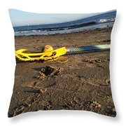 Lacrosse Womens Stick On The Beach Throw Pillow