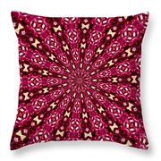 Lacy Orchid Kaleidoscope Throw Pillow