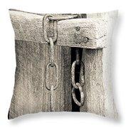 Ladder Chain Bw Throw Pillow