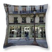 Laduree On The Champs De Elysees In Paris France  Throw Pillow