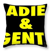 Ladies And Gents Throw Pillow