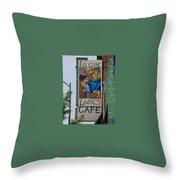 Ladies Cafe Throw Pillow