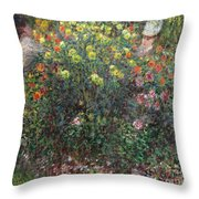 Ladies In Flowers Throw Pillow
