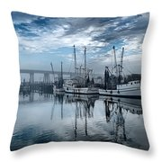 Ladies In Waiting - Blue Throw Pillow