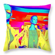 Ladies In Yellow Throw Pillow
