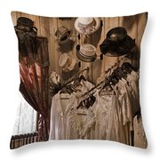 Ladies' Shoppe Throw Pillow