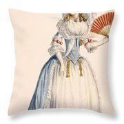 Ladies Turkish Style Evening Dress Throw Pillow