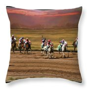 Ladies World Chapionship Ladies Cup Missing One Lady Throw Pillow by Blake Richards