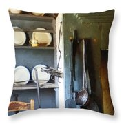 Ladles And Spatula In Kitchen Throw Pillow