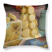 Laduree Macarons Throw Pillow