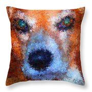 Lady 4 Throw Pillow