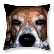 Lady 5 Throw Pillow