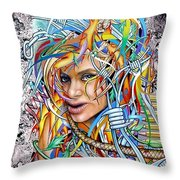Lady Apocalypse Throw Pillow