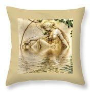 Lady Bathing 2 Throw Pillow