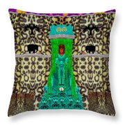 Lady Bear In The Jungle Throw Pillow