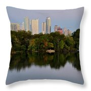 Lady Bird Lake In Austin Texas Throw Pillow