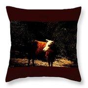 Lady Cow Throw Pillow