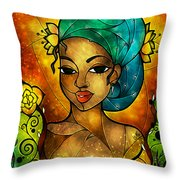 Lady Creole Throw Pillow