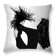 Lady D 2 Throw Pillow