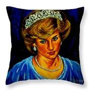 Lady Diana Portrait Throw Pillow