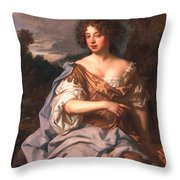 Lady Essex Finch, Later Countess Throw Pillow