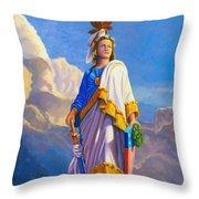 Lady Freedom Throw Pillow