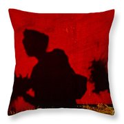 Lady From Arles In Full Regalia And Her Shadow Throw Pillow