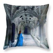 Lady In A Corridor Throw Pillow