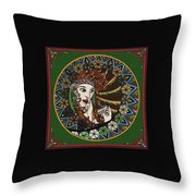 Lady In Bar Throw Pillow