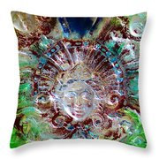Lady In Glass Throw Pillow