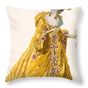 Lady In Grand Domino Dress To Wear Throw Pillow