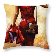 Lady In Red #25 Throw Pillow