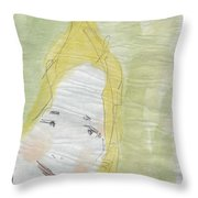 Lady In The Floor With Yellow Hair Throw Pillow