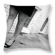 Lady In The Street Throw Pillow