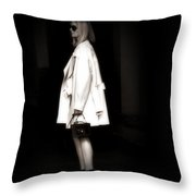 Lady In The White Coat Throw Pillow